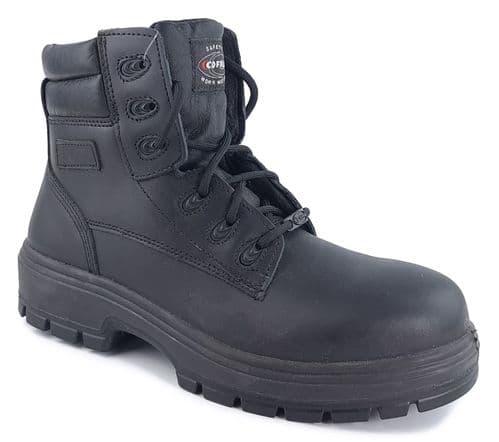 Cofra Stanton Black S3 Safety Work Boots Black